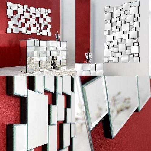 XL Wandspiegel MULTIPLEX mit Facettenschliff & 55 Spiegelflächen 140cm x 85cm - 3
