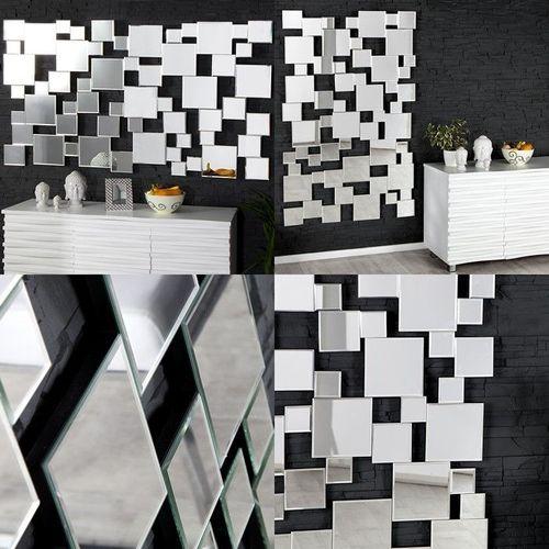XL Wandspiegel MULTIPLEX mit Facettenschliff & 55 Spiegelflächen 140cm x 85cm - 4