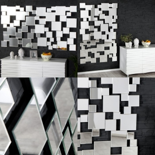 XL Wandspiegel MULTIPLEX mit Facettenschliff & 55 Spiegelflächen 140cm x 85cm | Vertikal oder horizontal aufhängbar! - 4