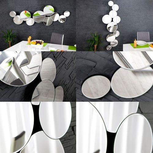 XL Wandspiegel BUBBLES mit 10 runden Spiegelflächen 145cm x 50cm | Vertikal oder horizontal aufhängbar! - 4
