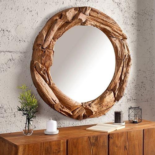 Wandspiegel PALU Natur aus recyceltem Treibholz handgefertigt 80cm Ø - 1