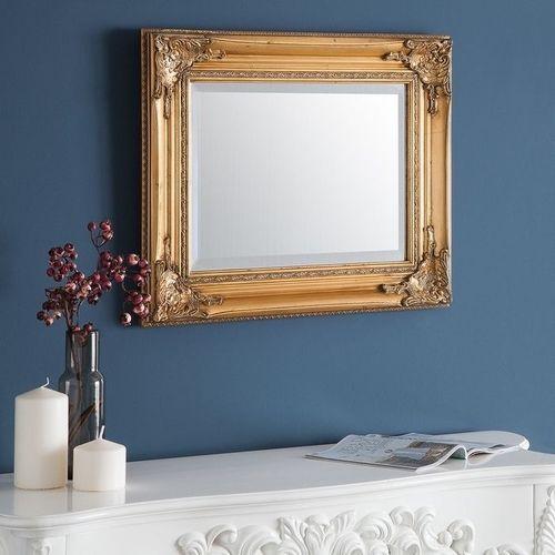 Romantischer Wandspiegel LOUVRE Gold Antik in Barock-Design 55cm x 45cm - 1
