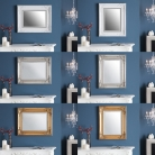 Romantischer Wandspiegel LOUVRE Gold Antik in Barock-Design 55cm x 45cm - 4