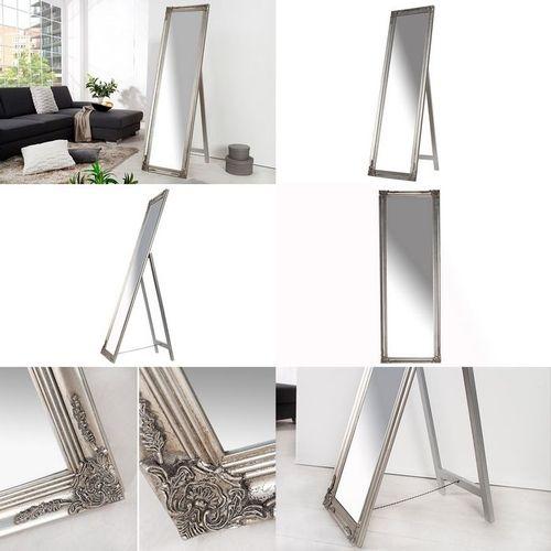 Romantischer Standspiegel LAVAL Silber in Barock-Design 160cm x 45cm - 3