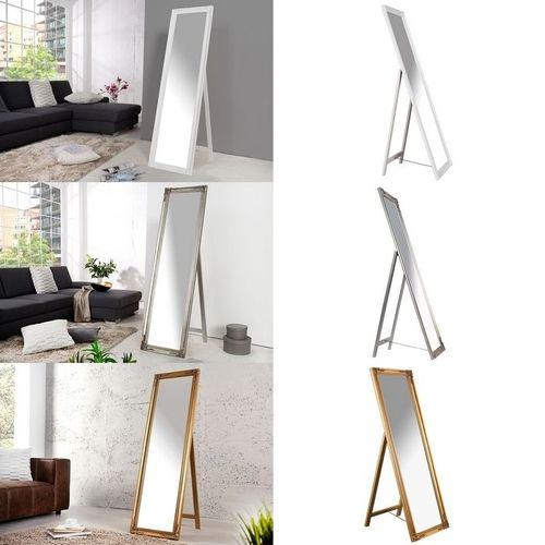 Romantischer Standspiegel LAVAL Silber in Barock-Design 160cm x 45cm - 4
