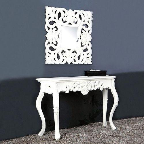 Romantische Konsole FLORENCE Weiß in Barock-Design 110cm x 35cm - 2