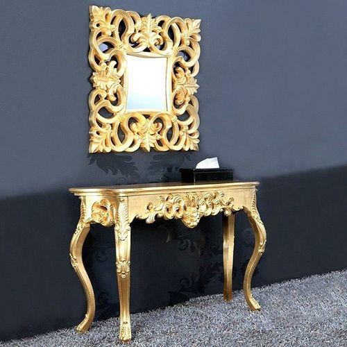 Romantische Konsole FLORENCE Gold Antik in Barock-Design 110cm x 35cm - 2
