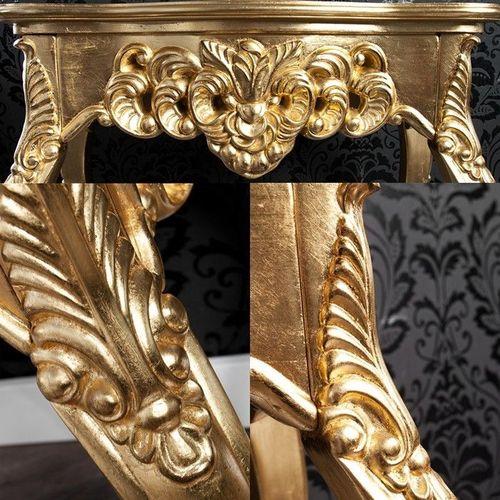 Romantische Konsole FLORENCE Gold Antik in Barock-Design 85cm x 35cm - 3