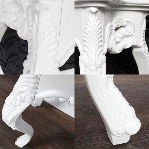 Romantische Konsole FLORENCE Weiß in Barock-Design 85cm x 35cm - 3