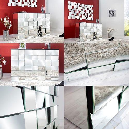 Sideboard MULTIPLEX mit Facettenschliff & 44 Spiegelflächen 130cm - 3