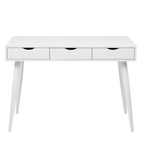 Schreibtisch VIBORG Weiß mit 3 Schubladen 110cm x 50cm - 1