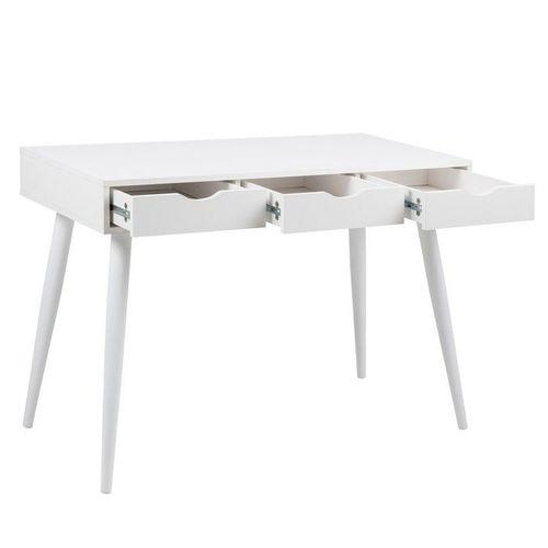 Schreibtisch VIBORG Weiß mit 3 Schubladen 110cm x 50cm - 2