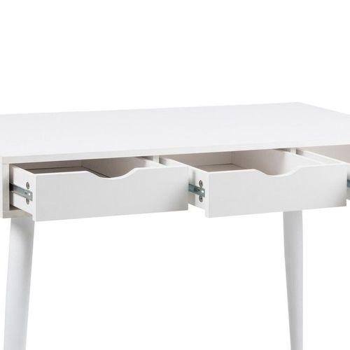 Schreibtisch VIBORG Weiß mit 3 Schubladen 110cm x 50cm - 3
