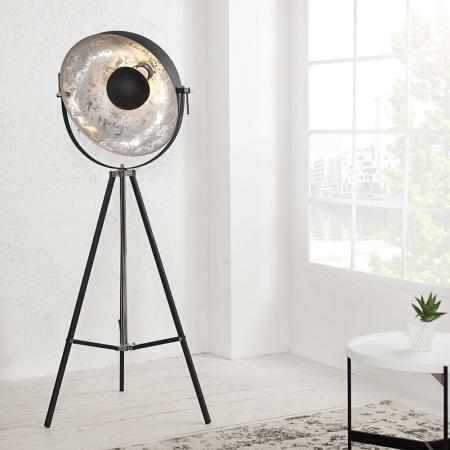 Stehlampe SPOT Schwarz-Silber 160cm Höhe verstellbar - 1