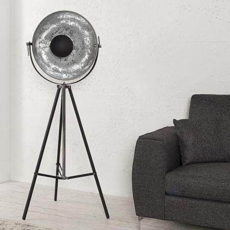Stehlampe SPOT Schwarz-Silber 160cm Höhe verstellbar - 2