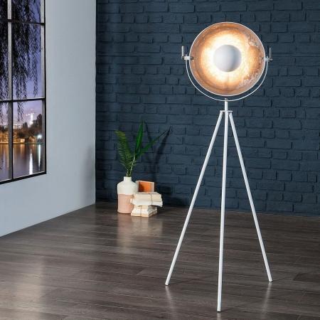 Stehlampe SPOT Weiß-Silber 140cm Höhe - 1