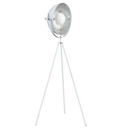 Stehlampe SPOT Weiß-Silber 140cm Höhe - 3