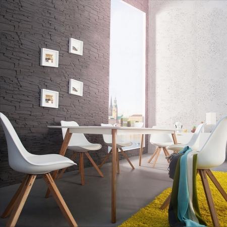 Retro Esstisch GÖTEBORG Weiß 200cm im skandinavischen Stil - 1