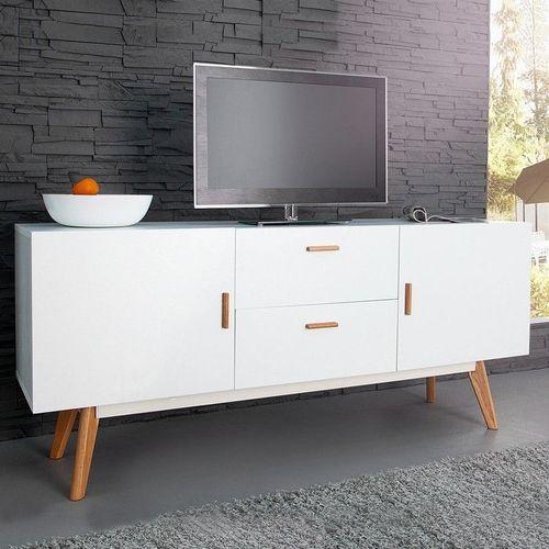 XL Retro Sideboard GÖTEBORG Weiß 160cm im skandinavischen Stil - 2