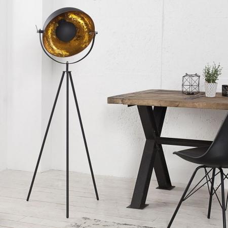 Stehlampe SPOT Schwarz-Gold 140cm Höhe - 1