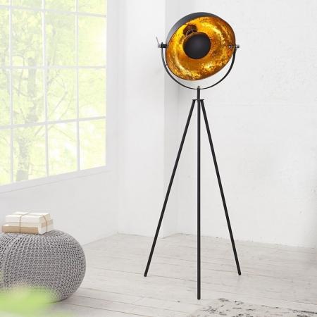 Stehlampe SPOT Schwarz-Gold 140cm Höhe - 3