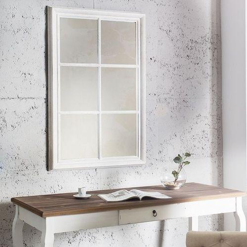 Romantischer Wandspiegel PORTA Weiß Vintage aus Holz 105cm x 65cm - 1