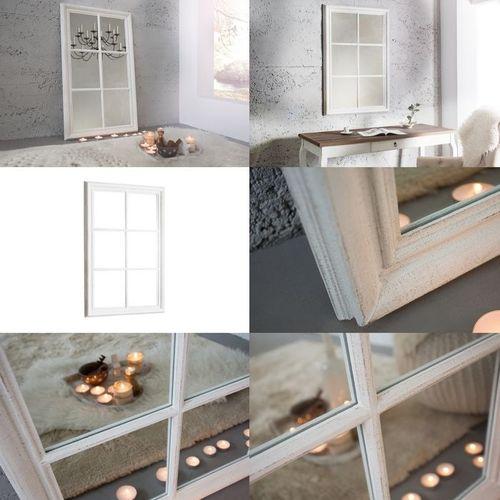 Romantischer Wandspiegel PORTA Weiß Vintage aus Holz 105cm x 65cm - 3