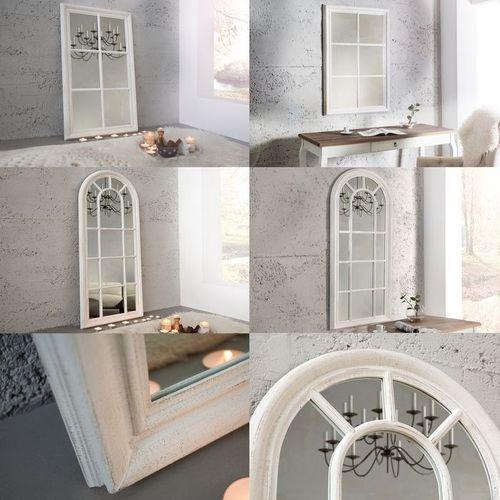 Romantischer Wandspiegel PORTA Weiß Vintage aus Holz 105cm x 65cm - 4