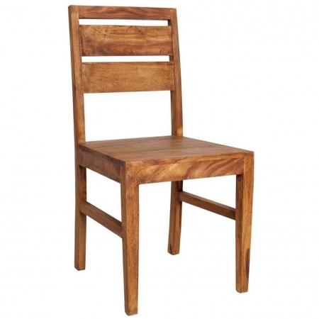 Stuhl SATNA Sheesham massiv Holz gewachst - Komplett montiert! - 1