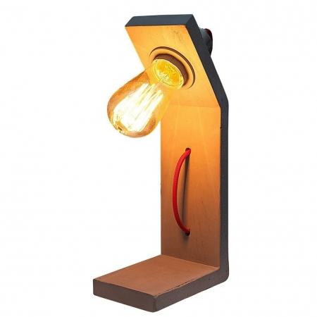 Tischlampe URBANO Grau in geknickter L-Form aus einem Block Feinbeton 30cm Höhe - 2