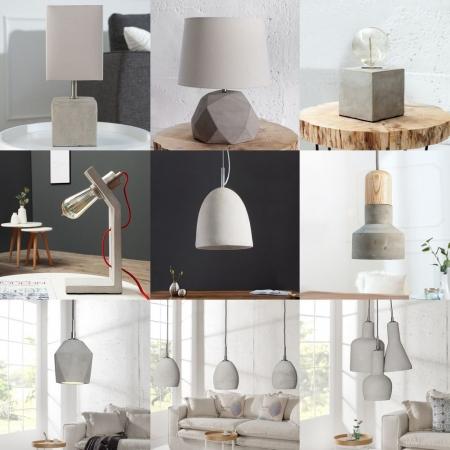 Tischlampe URBANO Grau in geknickter L-Form aus einem Block Feinbeton 30cm Höhe - 4