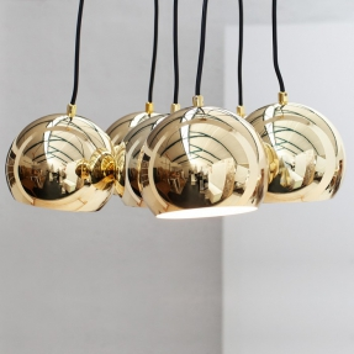 6er Hängelampe PERLA Gold a 15cm Ø - 2