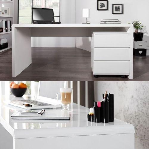 Schreibtisch SOHO Weiß Hochglanz 160cm - 2