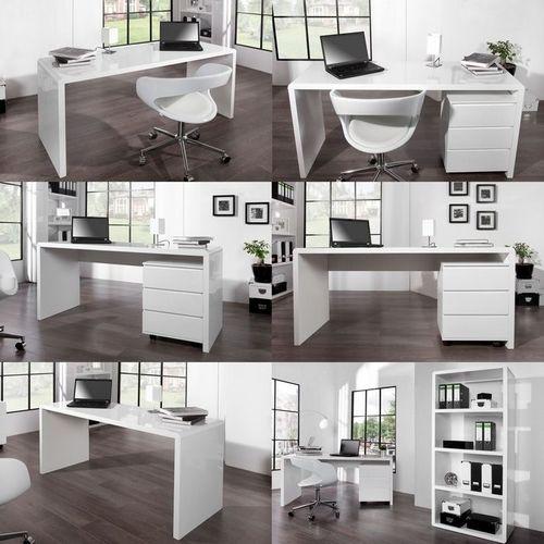 Schreibtisch SOHO Weiß Hochglanz 160cm - 3