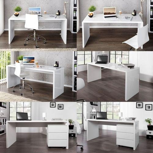 Schreibtisch SOHO Weiß Hochglanz 160cm - 4