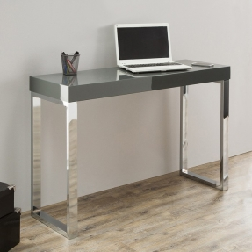 Schreibtisch PRINCETON Grau Hochglanz 120cm x 40cm - 1