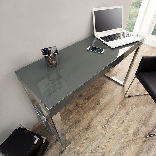 Schreibtisch PRINCETON Grau Hochglanz 120cm x 40cm - 2