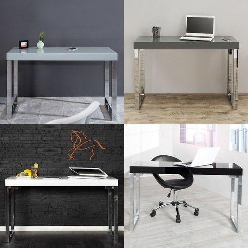 Schreibtisch PRINCETON Grau Hochglanz 120cm x 40cm - 4