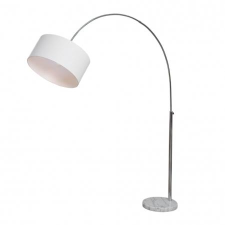 XL Bogenlampe SONOR Weiß mit Marmorfuß Weiß 170-200cm Höhe - 4