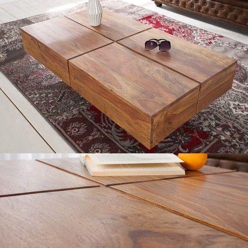 Couchtisch SALEM Sheesham massiv Holz gewachst 110cm x 60cm - 1