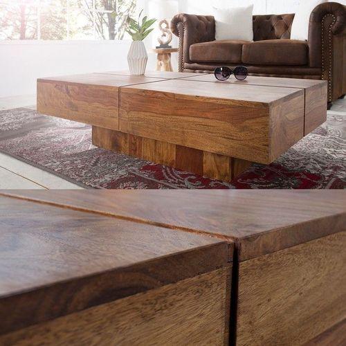 Couchtisch SALEM Sheesham massiv Holz gewachst 110cm x 60cm - 2