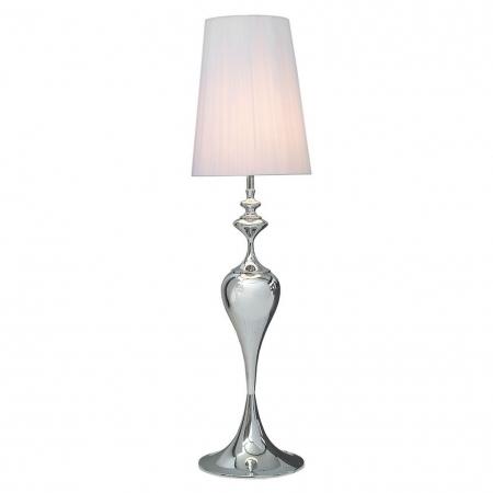 Stehlampe SCARLET Weiß mit Standfuß aus Silber glänzendem Metall 160cm Höhe - 4