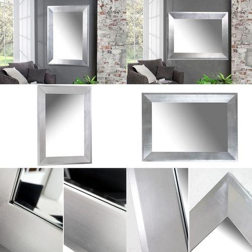 Zeitlos eleganter Wandspiegel DANA Silber 110cm x 90cm | Vertikal oder horizontal aufhängbar! - 4