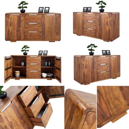 Sideboard DAIPUR Sheesham massiv Holz gewachst 145cm - 4