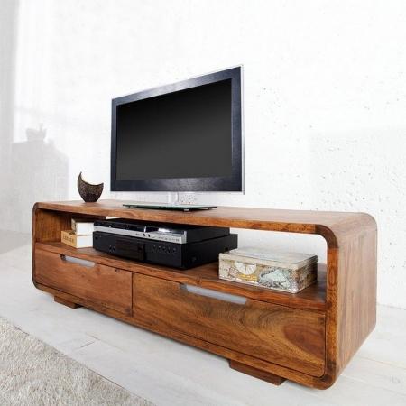 TV-Tisch DAIPUR Sheesham massiv Holz gewachst 130cm - 2