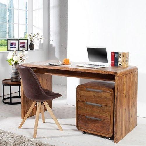Schreibtisch DAIPUR Sheesham massiv Holz gewachst 150cm x 70cm - 1