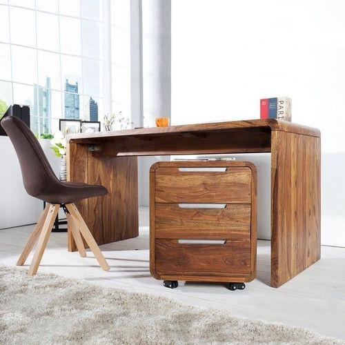 Schreibtisch DAIPUR Sheesham massiv Holz gewachst 150cm x 70cm - 2