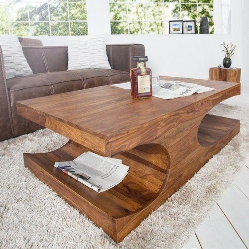 Couchtisch DAIPUR Sheesham massiv Holz gewachst 120cm x 70cm - 1