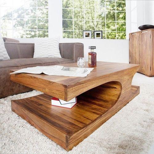 Couchtisch DAIPUR Sheesham massiv Holz gewachst 120cm x 70cm - 2