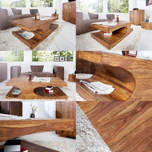 Couchtisch DAIPUR Sheesham massiv Holz gewachst 120cm x 70cm - 3